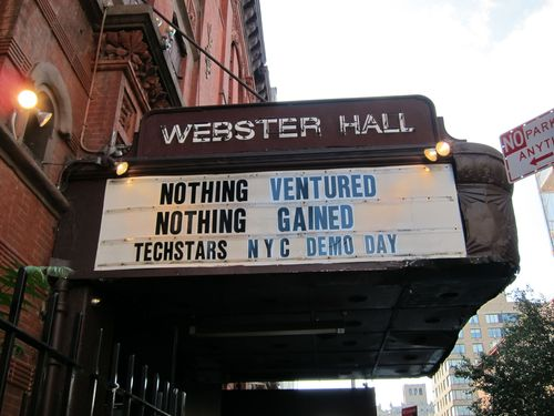 Nothing Ventured, Nothing Gained - TechStars NYC Demo Day